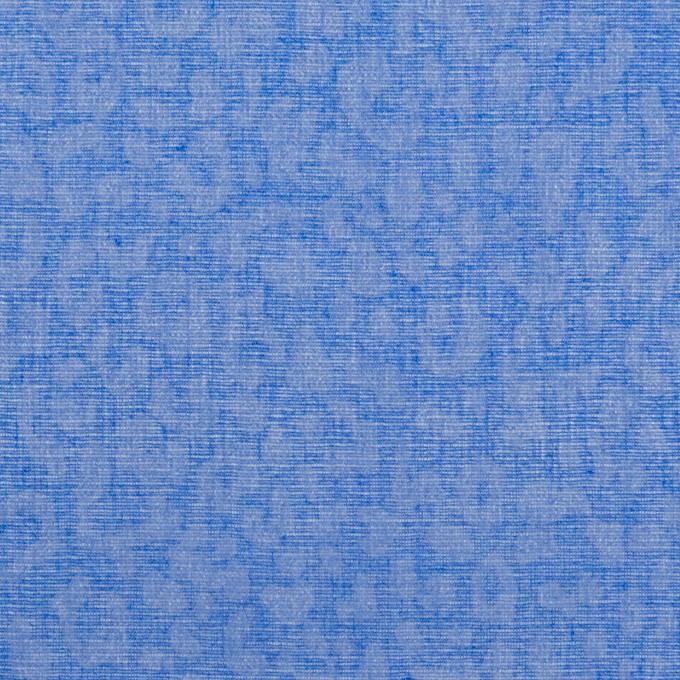 コットン×レオパード(ブルー)×ボイル イメージ1
