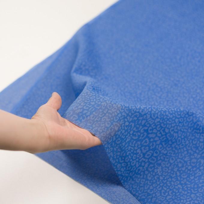 コットン×レオパード(ブルー)×ボイル イメージ5