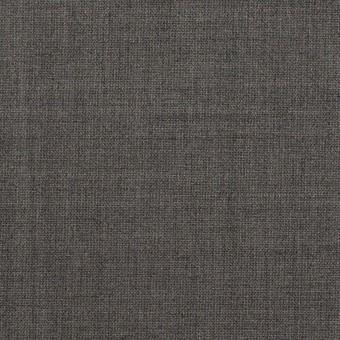 ウール&ポリウレタン×無地(チャコールグレー)×ポプリンストレッチ