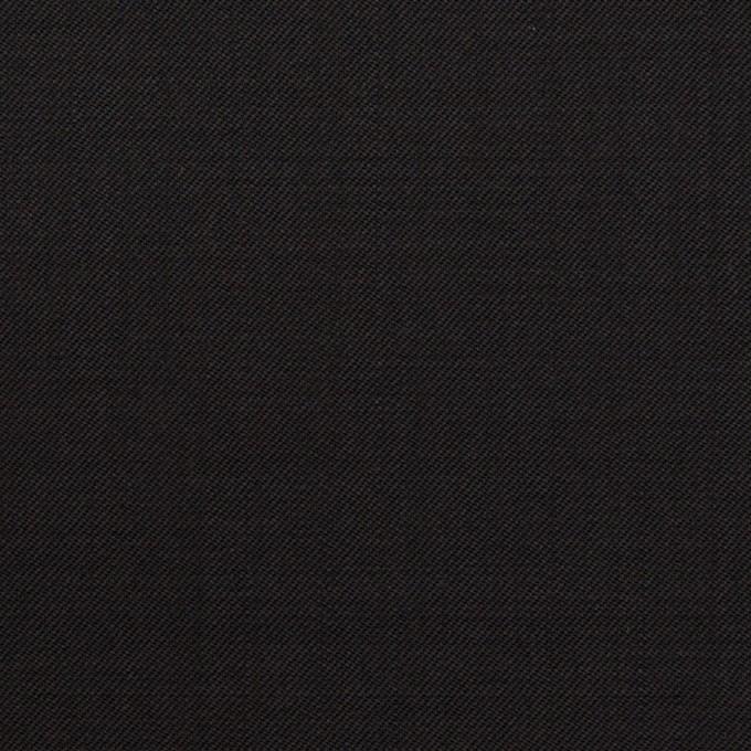 ウール×無地(ブラック)×サージ イメージ1