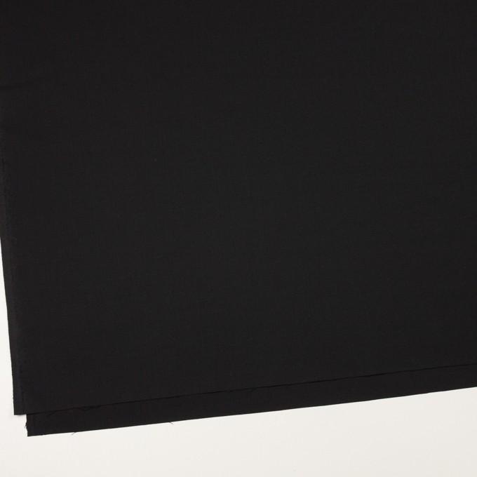 ウール&ポリウレタン×無地(ブラック)×ポプリンストレッチ イメージ2