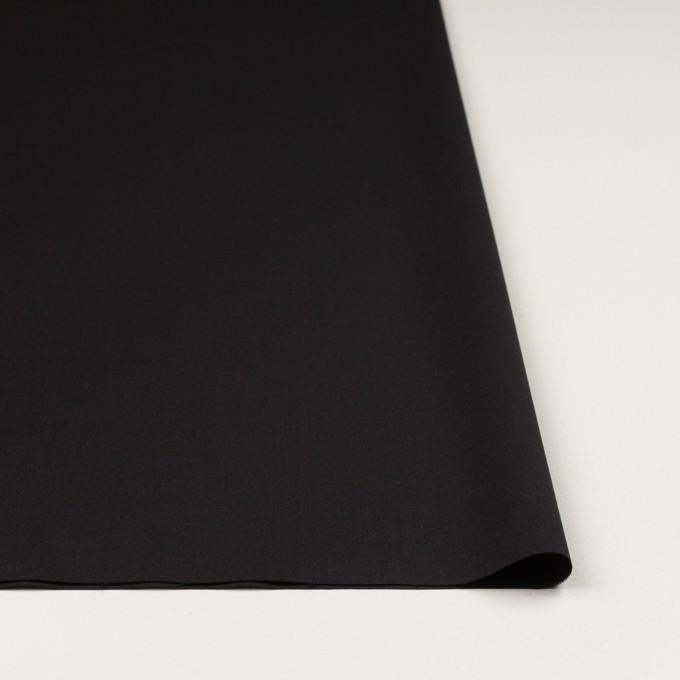 ウール&ポリウレタン×無地(ブラック)×ポプリンストレッチ イメージ3