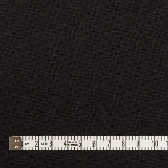 ウール&ポリウレタン×無地(ブラック)×ポプリンストレッチ イメージ4