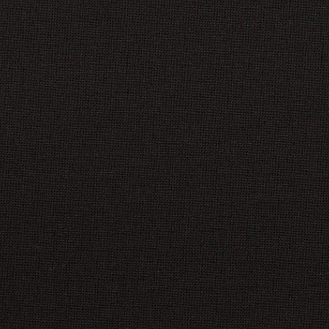 ウール&ポリウレタン×無地(ブラック)×ポプリンストレッチ イメージ1
