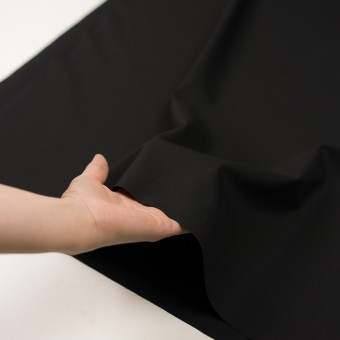 ウール&ポリウレタン×無地(ブラック)×ポプリンストレッチ サムネイル5