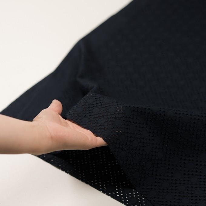 コットン×サークル(ダークネイビー)×ローン刺繍_全3色 イメージ5