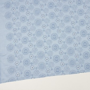 コットン×フラワー(ペールブルー)×ボイル刺繍_全2色 サムネイル2