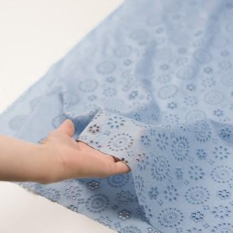 コットン×フラワー(ペールブルー)×ボイル刺繍_全2色 サムネイル5