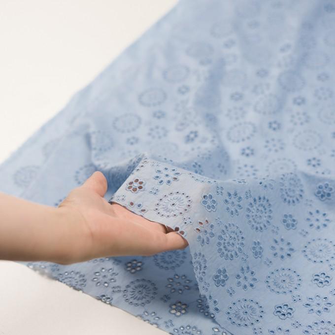 コットン×フラワー(ペールブルー)×ボイル刺繍_全2色 イメージ5