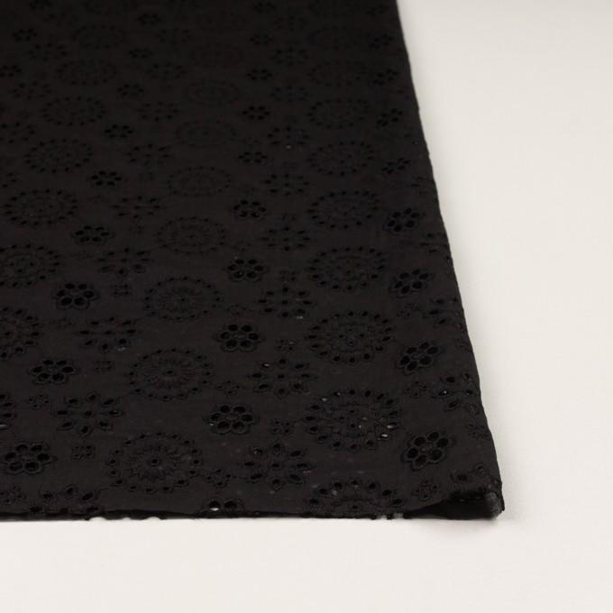 コットン×フラワー(ブラック)×ボイル刺繍_全2色 イメージ3