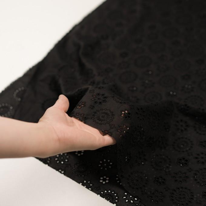 コットン×フラワー(ブラック)×ボイル刺繍_全2色 イメージ5