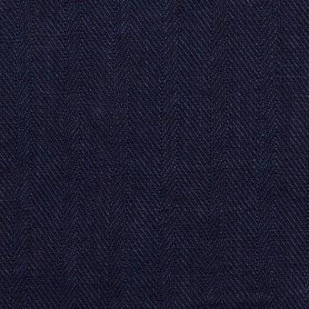 リネン×無地(インディゴ)×ヘリンボーン・ワッシャー サムネイル1