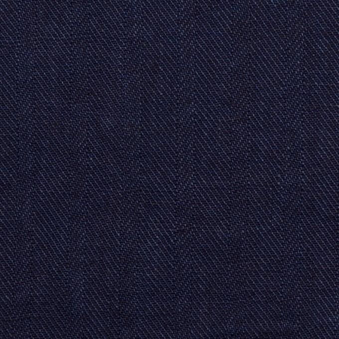 リネン×無地(インディゴ)×ヘリンボーン・ワッシャー イメージ1