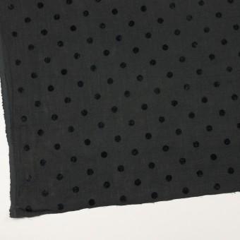 コットン&リネン×水玉(チャコール)×薄キャンバス サムネイル2