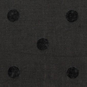 コットン&リネン×水玉(チャコール)×薄キャンバス サムネイル1