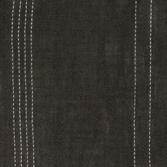 リネン×ストライプ(チャコール)×薄キャンバス