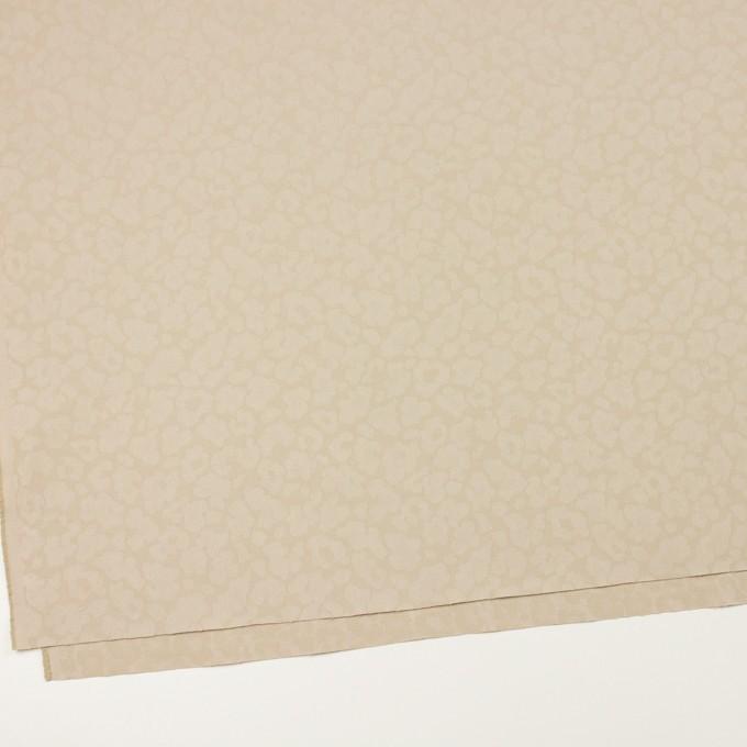コットン&ポリエステル混×レオパード(ベージュ)×ジャガード・ストレッチ イメージ2
