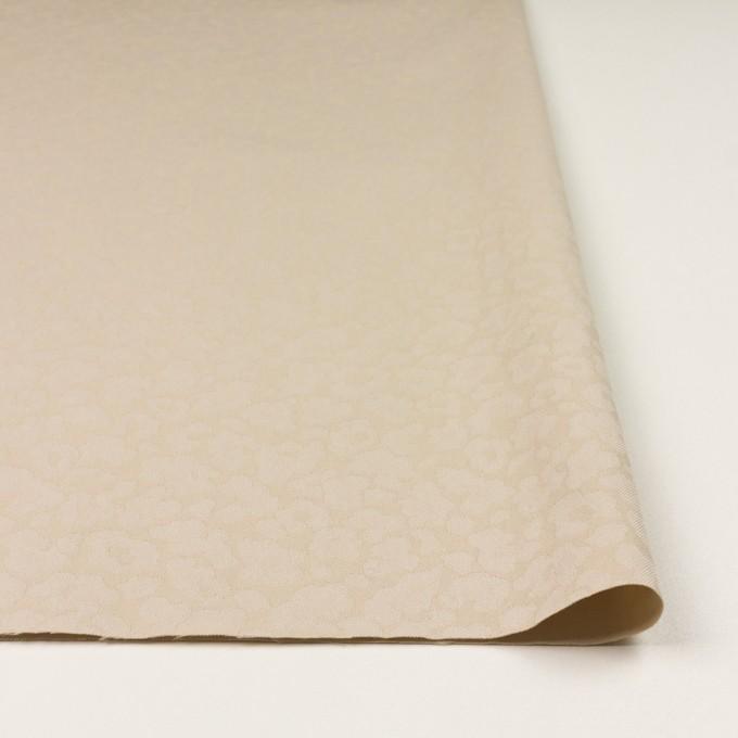 コットン&ポリエステル混×レオパード(ベージュ)×ジャガード・ストレッチ イメージ3