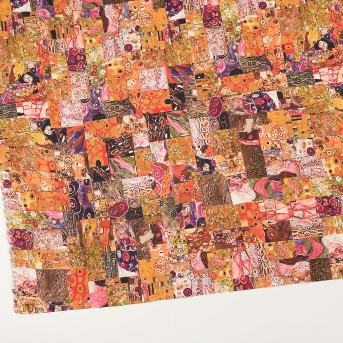 リネン×パッチング(オレンジ)×薄キャンバス_全3色 イメージ2