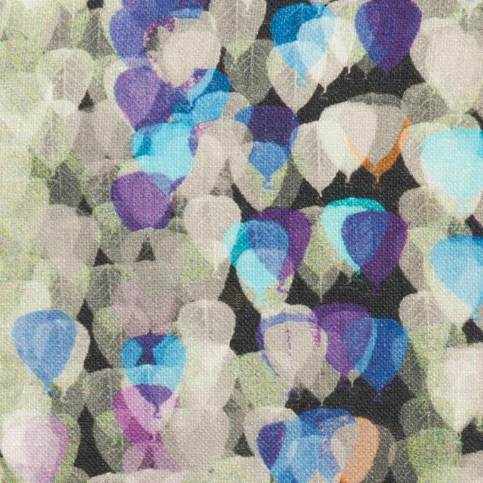 リネン×バルーン(パープル&チャコール)×薄キャンバス_全3色 イメージ1