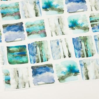リネン×スクエア(ブルー)×薄キャンバス_全3色 サムネイル2