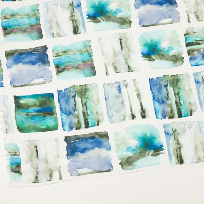 リネン×スクエア(ブルー)×薄キャンバス_全3色 イメージ2