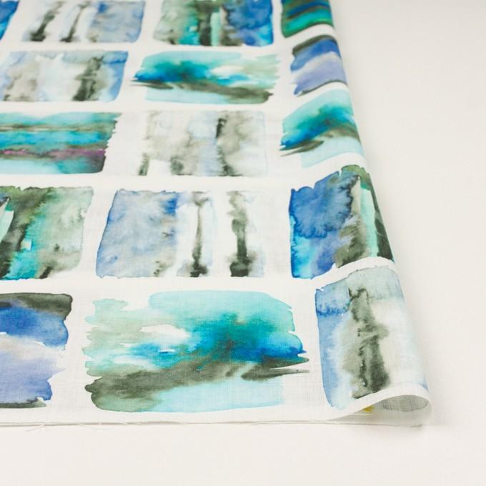 リネン×スクエア(ブルー)×薄キャンバス_全3色 イメージ3