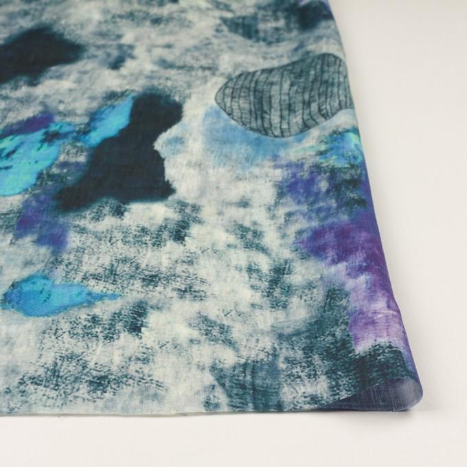 リネン×シェル(エメラルドブルー&パープル)×薄キャンバス_全3色 イメージ3