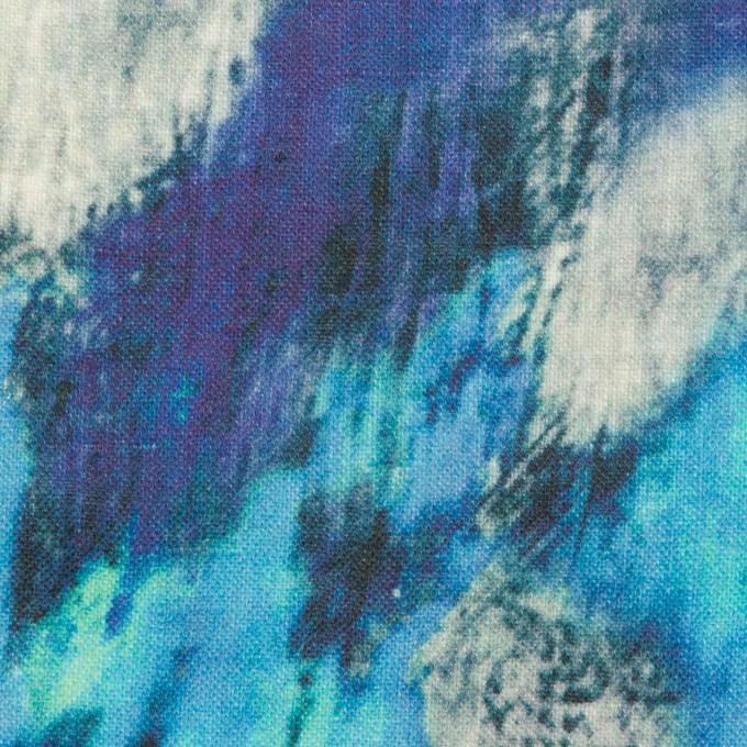 リネン×シェル(エメラルドブルー&パープル)×薄キャンバス_全3色 イメージ1