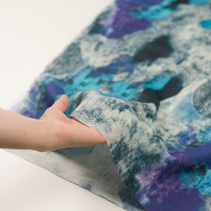 リネン×シェル(エメラルドブルー&パープル)×薄キャンバス_全3色 イメージ5