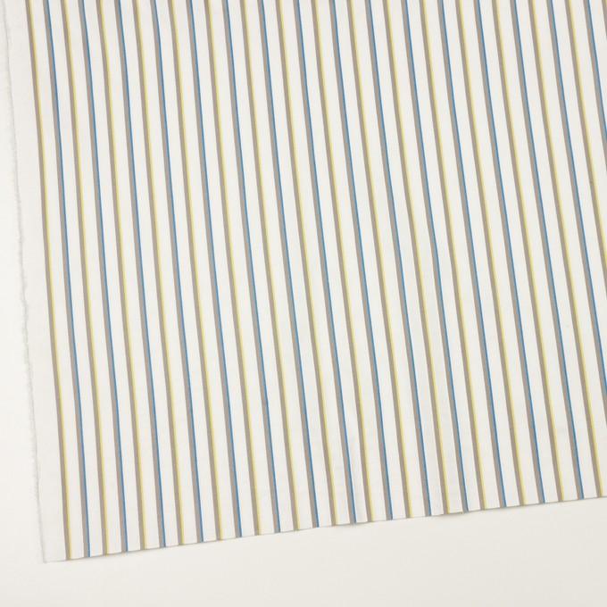 コットン&ポリウレタン×ストライプ(ホワイト&アッシュグレー)×ブロードジャガード イメージ2