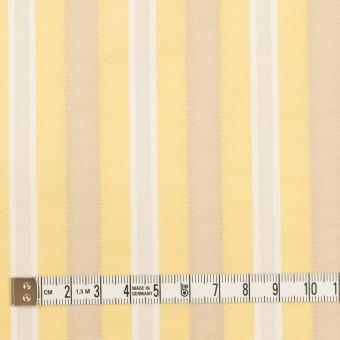 コットン&ポリエステル×ストライプ(イエロー)×ローンジャガード_全3色 サムネイル4