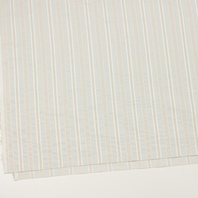 コットン&ポリエステル×ストライプ(パールブルー)×ローンジャガード_全3色 イメージ2