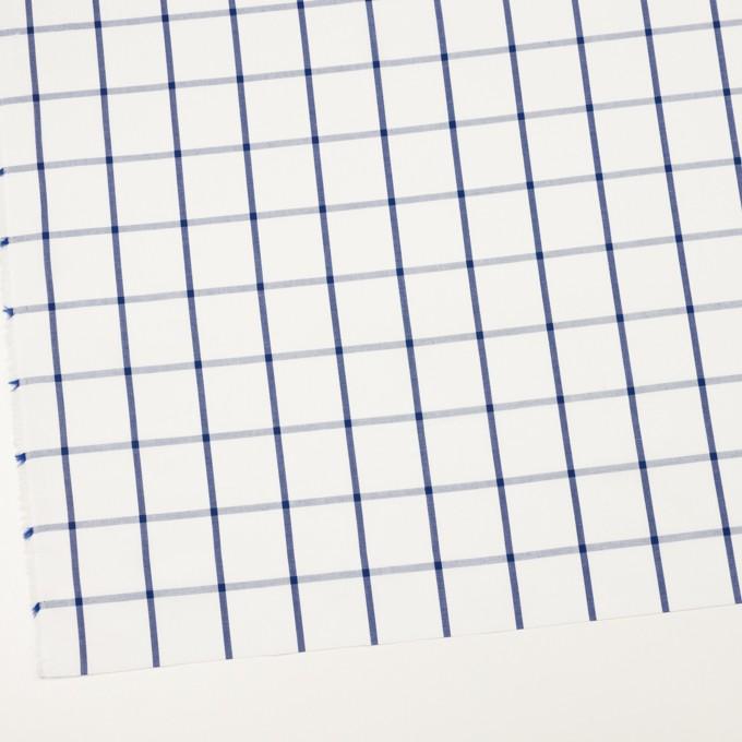 コットン×チェック(ホワイト&ブルー)×ブロード_全3色 イメージ2