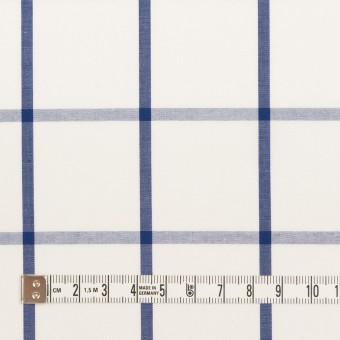 コットン×チェック(ホワイト&ブルー)×ブロード_全3色 サムネイル4