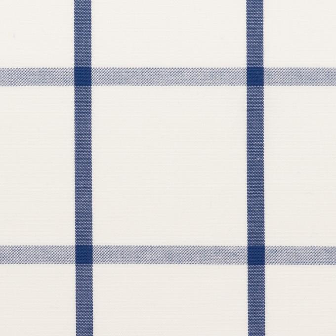 コットン×チェック(ホワイト&ブルー)×ブロード_全3色 イメージ1