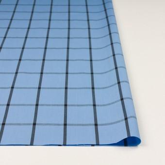 コットン×チェック(ネイビーブルー&ブラック)×ブロード_全3色 サムネイル3