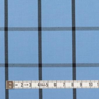 コットン×チェック(ネイビーブルー&ブラック)×ブロード_全3色 サムネイル4