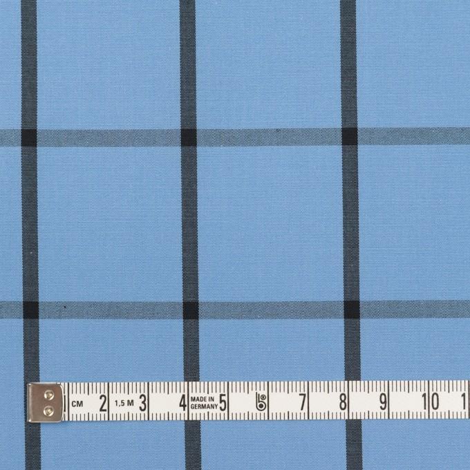 コットン×チェック(ネイビーブルー&ブラック)×ブロード_全3色 イメージ4