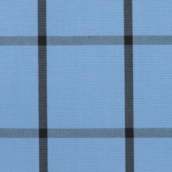 コットン×チェック(ネイビーブルー&ブラック)×ブロード_全3色 サムネイル1