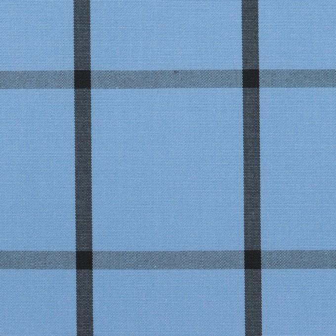 コットン×チェック(ネイビーブルー&ブラック)×ブロード_全3色 イメージ1