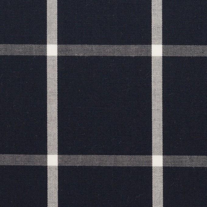 コットン×チェック(ダークネイビー&ホワイト)×ブロード_全3色 イメージ1