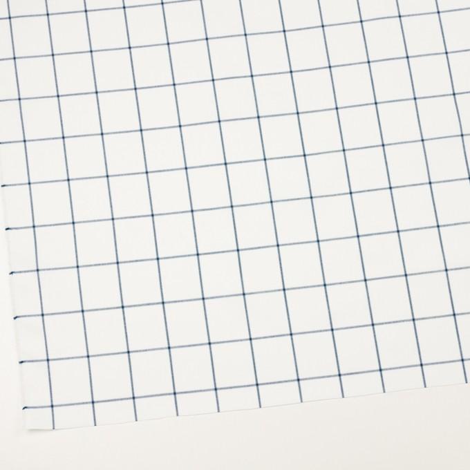 コットン×チェック(ホワイト&ネイビーブルー)×薄サージ イメージ2