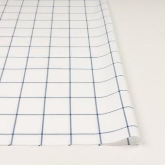 コットン×チェック(ホワイト&ネイビーブルー)×薄サージ サムネイル3