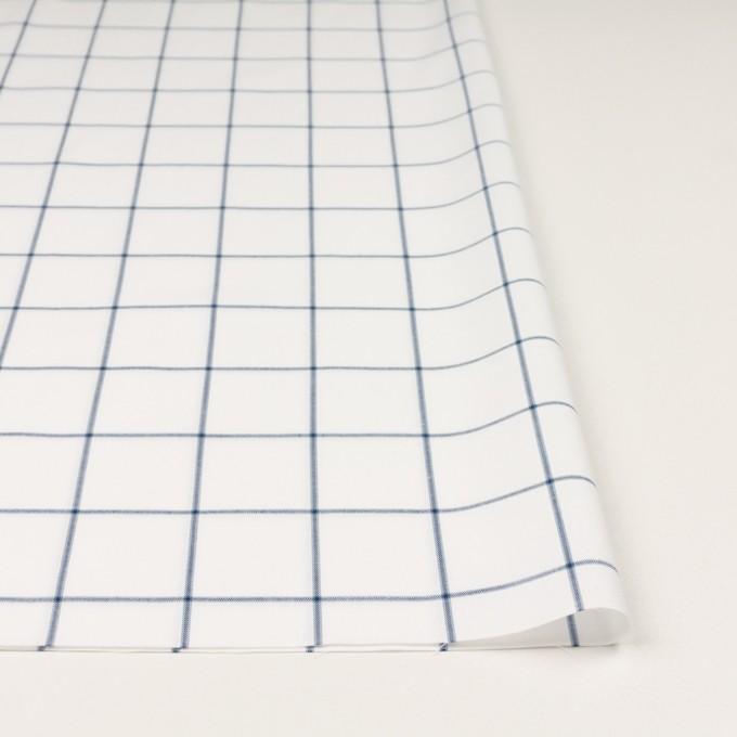 コットン×チェック(ホワイト&ネイビーブルー)×薄サージ イメージ3