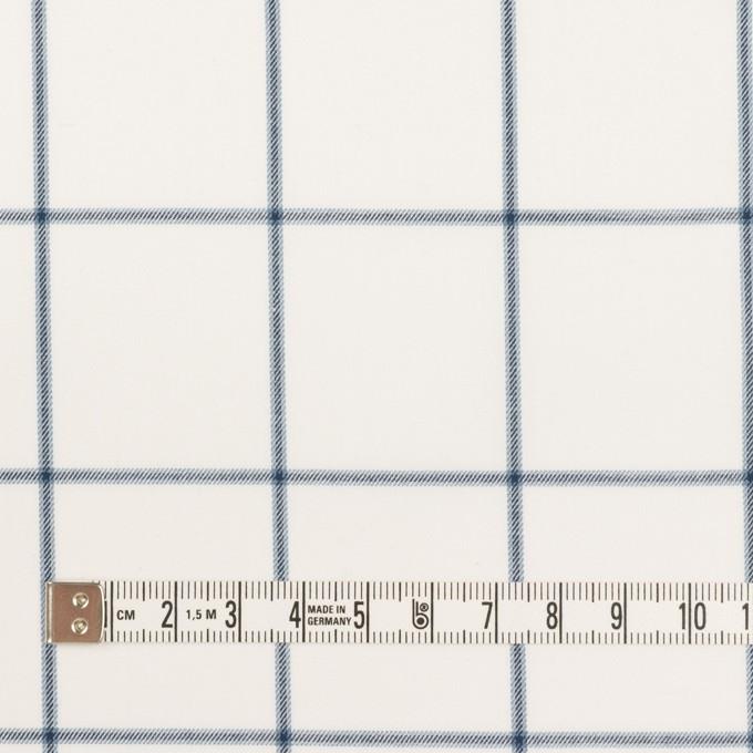 コットン×チェック(ホワイト&ネイビーブルー)×薄サージ イメージ4