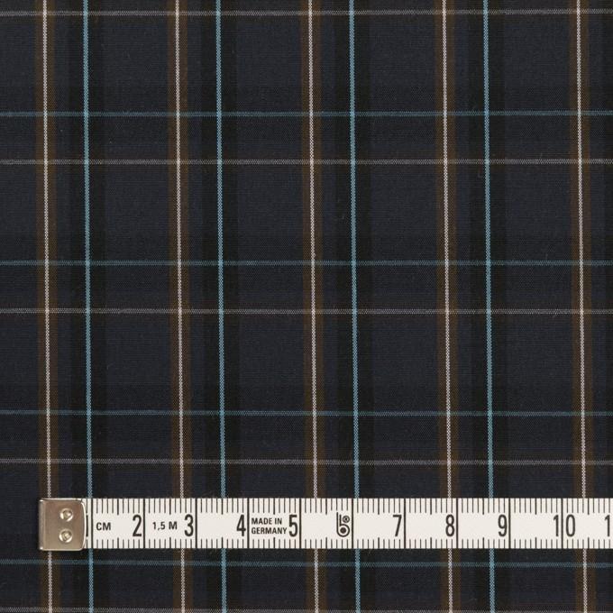 コットン×チェック(ダークネイビー&モカブラウン)×ブロード イメージ4