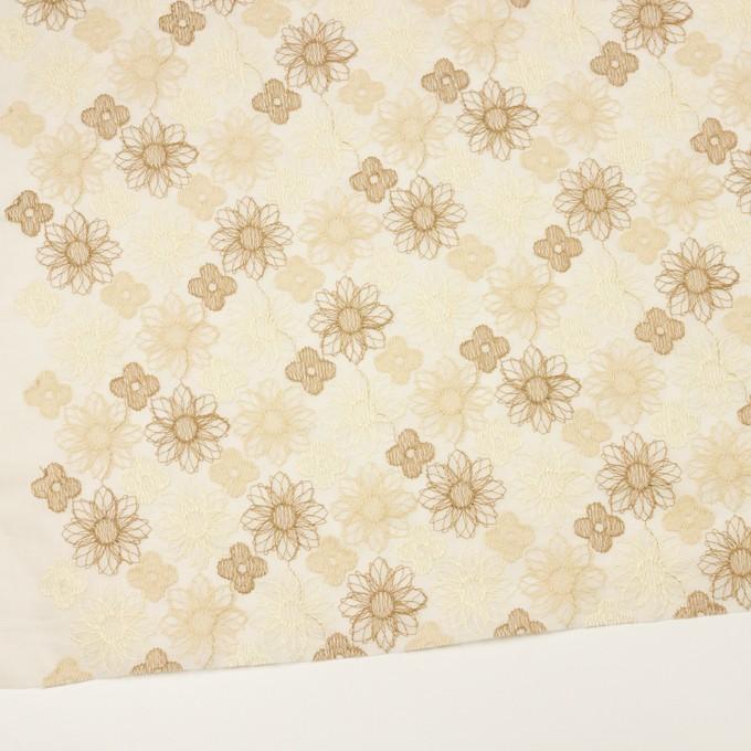 コットン×フラワー(ベージュ)×オーガンジー刺繍_全4色 イメージ2
