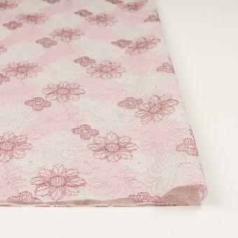 コットン×フラワー(モーブ)×オーガンジー刺繍_全4色 サムネイル3