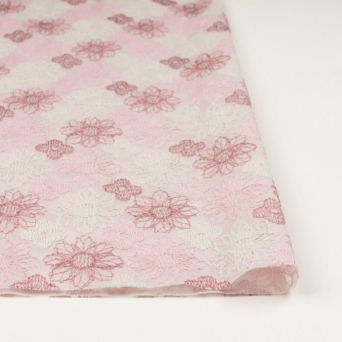コットン×フラワー(モーブ)×オーガンジー刺繍_全4色 イメージ3